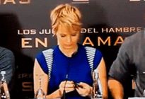 Jennifer Lawrence attempts to eat mints